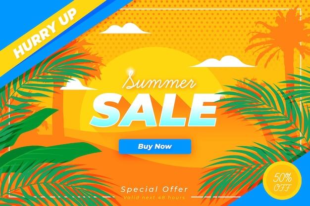 Fim do conceito de venda de verão da temporada