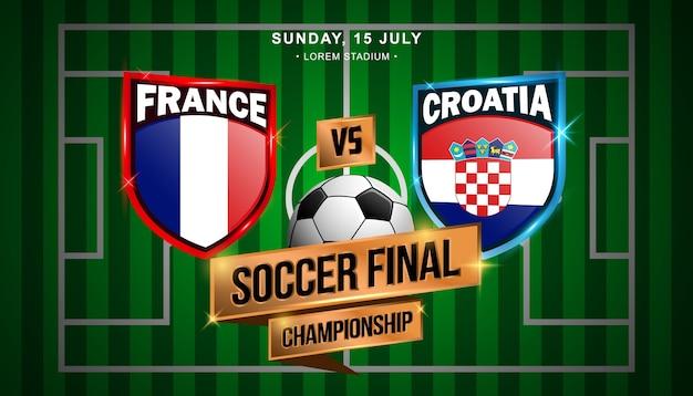 Final de futebol entre a frança e a croácia
