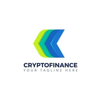 Finança bitcoin blockchain logo vector