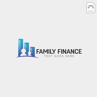 Finanças da família, elemento de ícone de ilustração de vetor negócios logotipo modelo