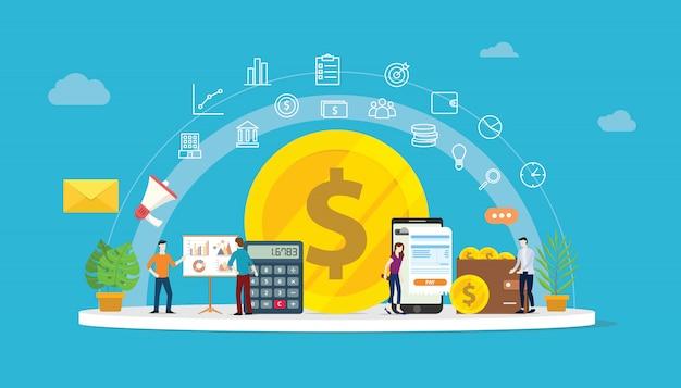 Finanças de dinheiro de crescimento
