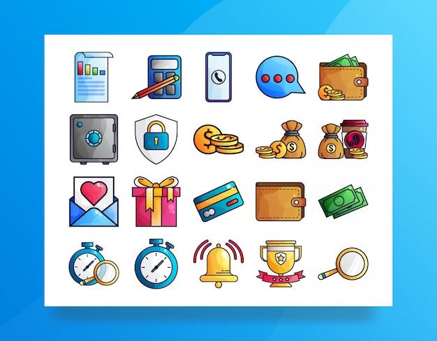 Finanças icon pack