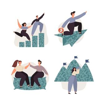 Finanças pessoais, economia de dinheiro, investimentos, capital, objetivos financeiros, seguros
