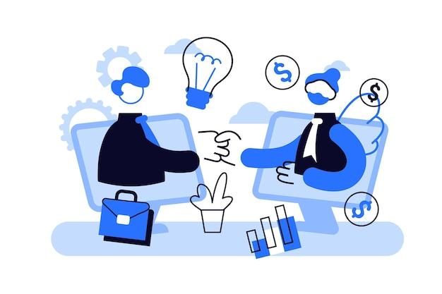 Financiamento de empreendedorismo, investimento de iniciativa,