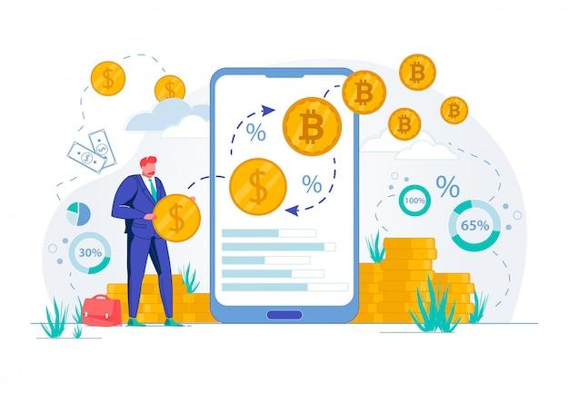 Financiamento em moeda e investimentos em ações de bitcoin.