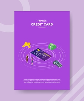 Financiar pessoas de cartão de crédito aguardando dinheiro de cartão de crédito