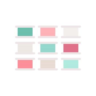 Fio colorido rola icon ilustração