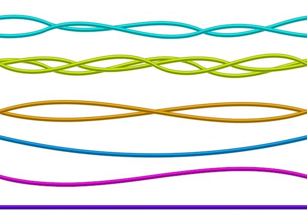 Fios elétricos flexíveis, cabos de energia de conexão