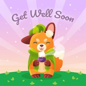 Fique bom logo com a fox