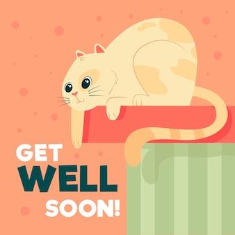 Fique bom logo com o gato