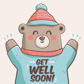 Fique bom logo com o urso