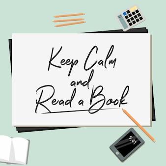 Fique calmo e leia um livro