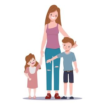 Fique com o personagem de pessoas da família
