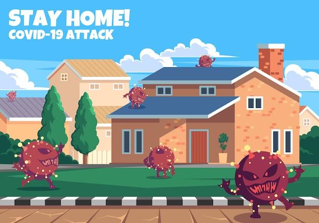 Fique em casa covid-19 attack