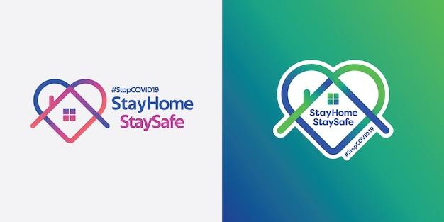 Fique em casa e fique logo seguro.