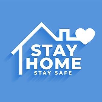 Fique em casa e fique seguro conceito de design de cartaz