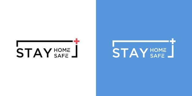 Fique em casa e fique seguro logo definido