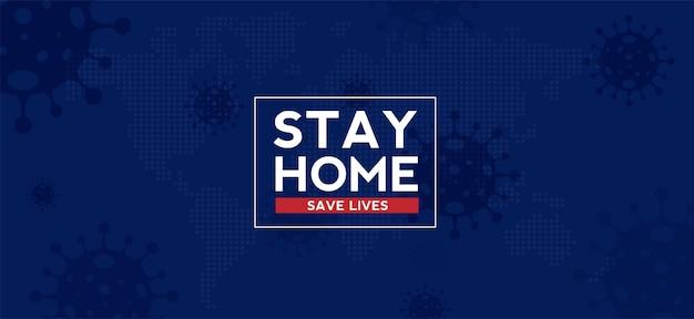 Fique em casa, salve vidas, quarentena, ilustração de epidemia de coronavírus para mídias sociais quarentena