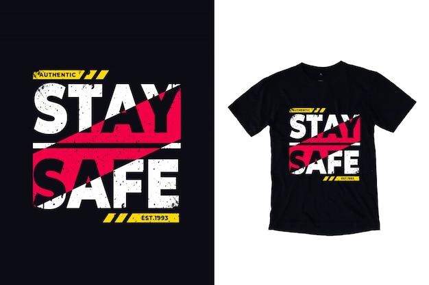 Fique seguro tipografia moderna citação
