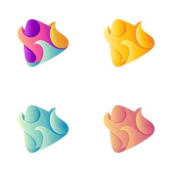 Fire media reproduz modelo de logotipo colorido