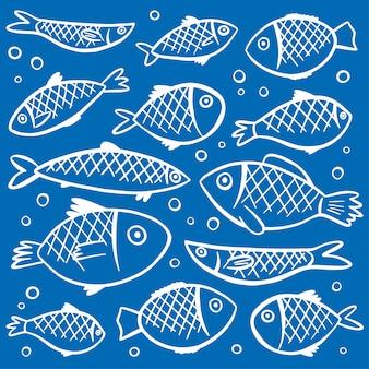 Fishes, padrão, fundo