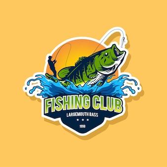Fisihing logo template design
