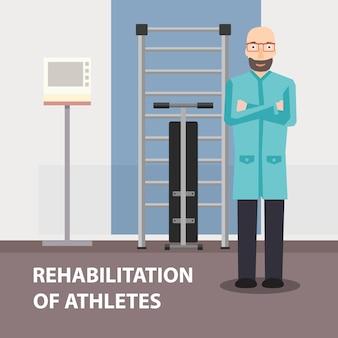 Fisioterapeuta profissional da propaganda do cartaz