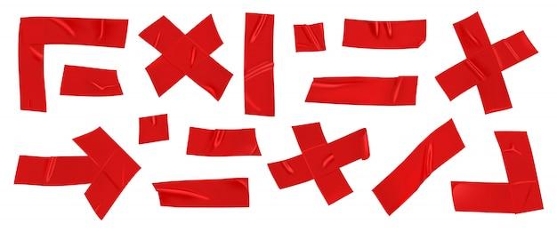 Fita adesiva vermelha reparação conjunto isolado