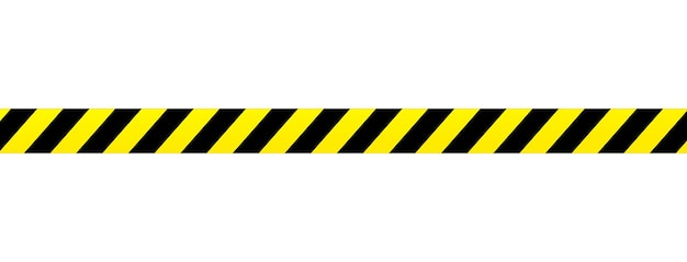 Fita amarela isolada no fundo. fita da área da cena do crime. pano de fundo grunge