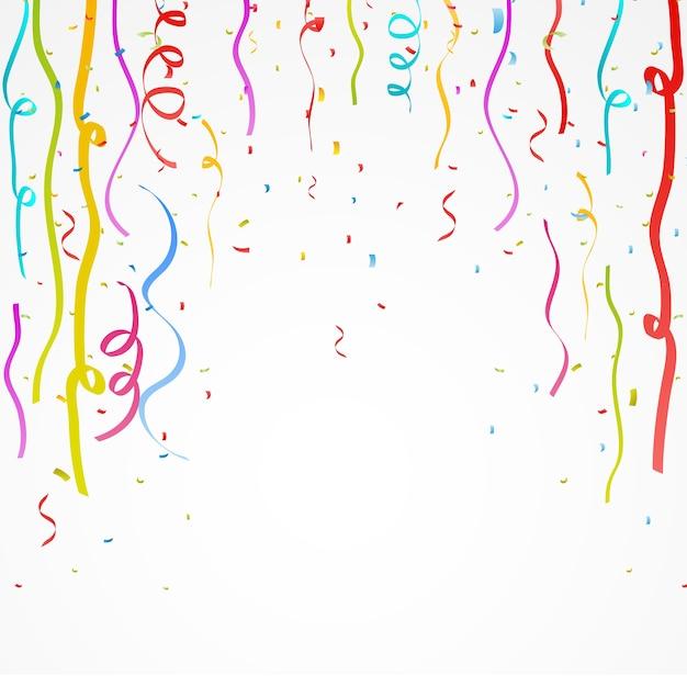 Fita colorida celebração com confete