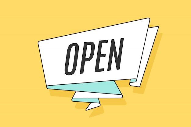 Fita com a palavra aberta