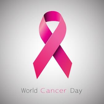Fita cor-de-rosa da conscientização do câncer.