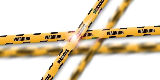 Fita de advertência de barreira
