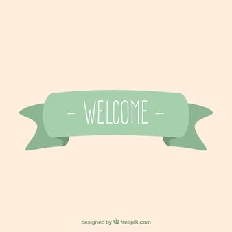 Fita de boas-vindas