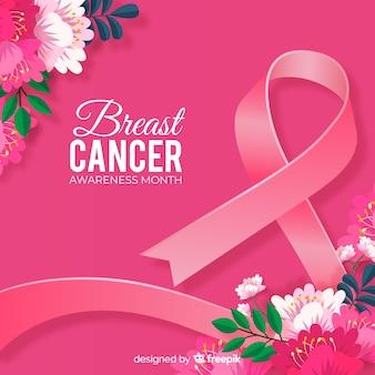 Fita de conscientização de câncer de mama realista