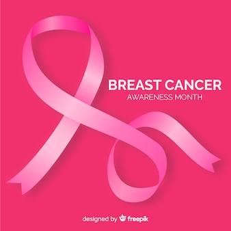 Fita de estilo realista para conscientização do câncer de mama