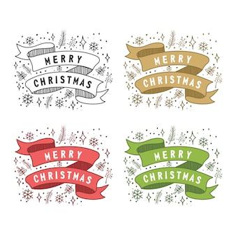 Fita de feliz natal rústica