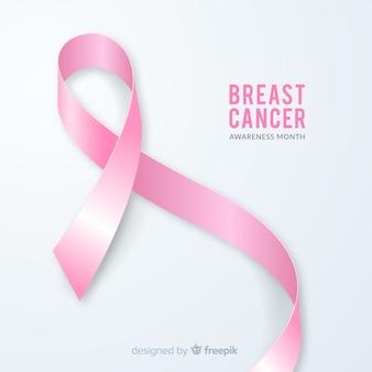 Fita de mês realista conscientização do câncer de mama