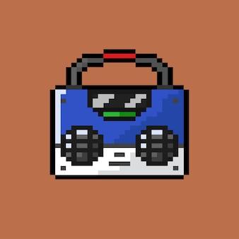 Fita de música com estilo pixel art