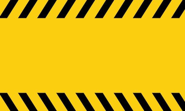 Fita de perigo amarela e preta. aviso em branco. vetor em fundo isolado. eps 10.