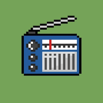 Fita de rádio com estilo pixel art