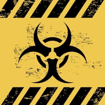 Fita de risco biológico sobre ilustração vetorial de fundo branco