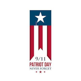 Fita do dia do patriota dos eua