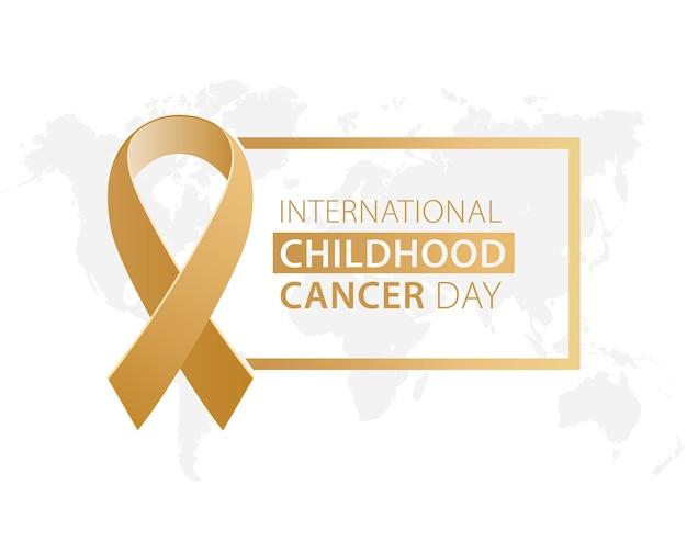 Fita do dia internacional de conscientização sobre o câncer infantil na infância