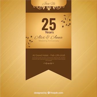 Fita dourada vigésimo quinto aniversário