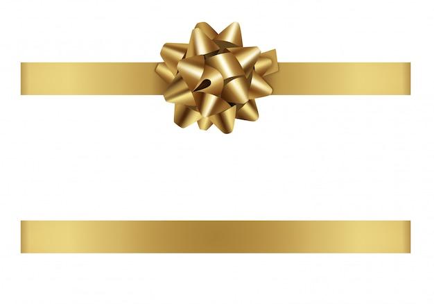 Fita e arco de ouro