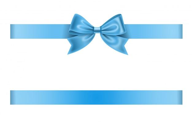 Fita e laço azul claro