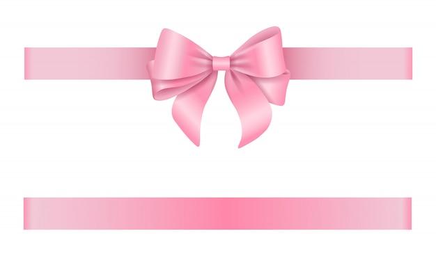 Fita e laço rosa