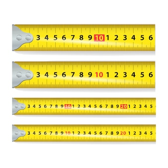 Fita métrica amarela