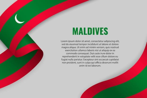 Fita ou banner com bandeira das maldivas